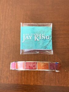 NEW JAY KING INLAY CORAL MAGNETIC BRACELET SIZE LARGE
