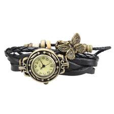 Women's Casual Vintage Multilayer Butterfly Leather Bracelet Watch