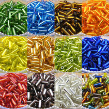 800Pcs Tube Czech Glass Spacer Beads 2x4mm 11color-1 Or Mixed R0081