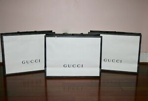 """New Lot of 3 Gucci Grossgrain handle shopping bags Gift Bags 29"""" x 22"""" XL"""