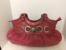 Hype Pink Leather Shoulder Bag Purse