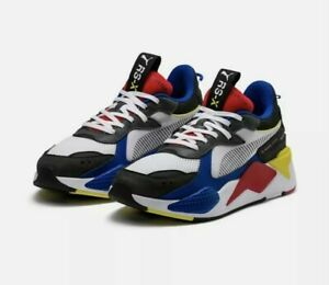 Puma RS-X Toys White Red Blue Yellow RSX 369628 369449 02 Mens and Kids Size 5.5