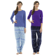 Tom Franks Ladies Snowflake Print Long Pyjamas Set