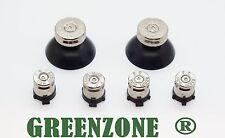 Greenzone ® Ps4 Controlador Bala Botones & Silver Top thumbsticks Mod Kit
