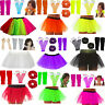 GIRLS NEON TUTU SKIRT SET LEG WARMERS GLOVES SCRUNCHIES PONIOS FANCY DRESS PARTY
