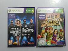 Lote 2 juegos The Black Eyed Peas/Kinect Adventure XBOX 360 Pal España COMPLETO