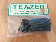 """TEAZER Vintage Super Soft 3.75"""" Worm NEW Green Bass  Plastic Fishing Lures"""