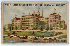 "1915 ""The Home of Shredded Wheat"" factory building, Niagara Falls ad postcard"