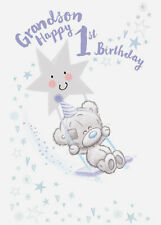 Me to You Tiny Tatty Teddy Grandson 1st Birthday Card