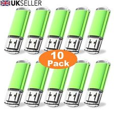 10 Paquete a granel 1/2/4/8/16/32GB USB 2.0 Memory Stick Flash Pen Drive-Verde