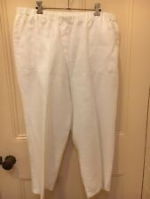 Yarra Trail White Linen 3/4 Pants Size 18