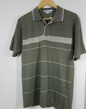 Mens Mlunapple Polo Shirt Size Large Short Sleeve Kahki Retail $268.00