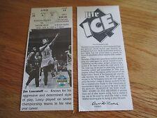 Game 13 JIM LOSCUTOFF Last Season BOSTON CELTICS 1/4/95 TICKET Boston Garden