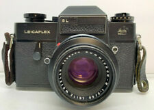 LEICAFLEX LEITZ SL 35MM CAMERA AND SUMMICRON-R WETZLAR 1.2 50MM LENS OLD VINTAGE