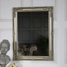 Espejos decorativos rectangulares plateado para el salón