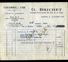 "NANTES (44) CHASSE-TIR / STAND de TIR & ATELIER de REPARATION ""G. BRICHET"" 1955"