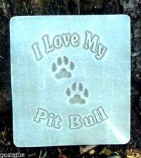 Pit bull plastic mold concrete plaster dog plaque mould