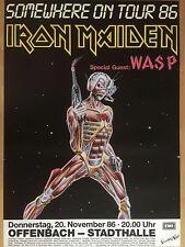 IRON MAIDEN  1986   OFFENBACH   ORIGINAL Concert Poster 84 x 60 cm HAMMERPREIS