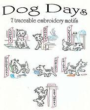 Dog Days Vtg. Embroidery Transfer Pattern