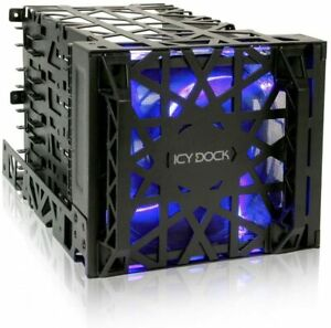 Icy Dock Vortex MB074SP-B 3.5-inch HDD 4-In-3 Module Cooler Cage - Black