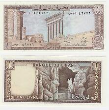 Lebanon 1 Livre 1981 P-61c UNC Uncirculated Banknote