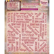 """VINTAGE parole-Vintage Floreale 8 """" * 8"""" Goffratura FOLDER-ef8-vf-vwrd"""
