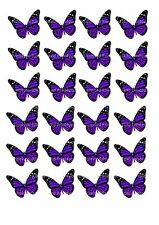 24 butterflies butterfly cake toppers decorations edible approx 4cm wide D2