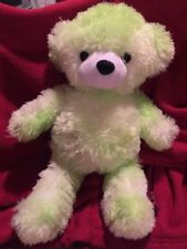 Cepia Glo E Color Kinetics Green White Teddy Bear Plush Glow Light Up Toy 12""