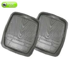 Floor 4WD Mud Mats Rear Heavy Duty Dished Grey Rubber Front Pair Can Be Trimmed