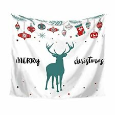 Art Cool Wall Hanging Tapestry Bohemian Blanket Cotton Reindeer Christmas Twin