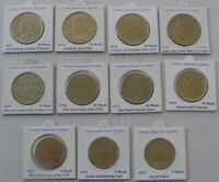 1969-1975, Germany –GDR, a set of 5-10-20- Mark coins