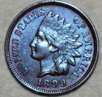 *MAKE-A-$185 OFFER*= 1899 UNC INDIAN HEAD BLUE PENNY MS/BU *FULL LIB~4 DIAs* #51