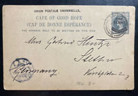 1903 Cape Town Cape Good Hope South Africa Stationery Postcard Cover To Germany