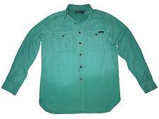 Polo Ralph Lauren Hunting Fishing Trail Guide Green Cargo Utility Shirt Medium
