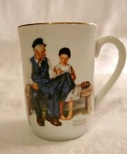 Vintage 1982 Norman Rockwell Collectors Light House Keeper's Daughter Mug Cup