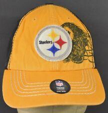 Amarillo de Pittsburgh Steelers Logo Bordado Béisbol Sombrero Gorra  Ajustable Correa cd90d8cc696