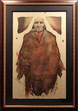 "Frank Howell ""Buffalo Woman"" Fine Art w/custom frame Hand Signed Make an Offer!"