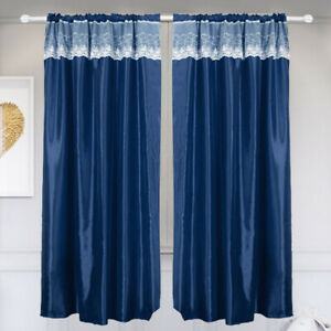 1/2pcs Luxury Blackout Curtains Thick 100% Blackout Privacy for Bedroom Kitchen