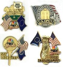 Ryder Cup  & U.S. Open Golf Pins NBC Sports Media Guest Pin Choice 1995 97 99