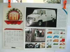 Old Commercial Vehicle Sales Brochure Fiat Light  Vehicles including Camper.