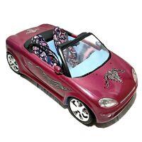 "Mattel Barbie Car 2003 Raspberry Sparkle 16"" Convertible Fuzzy Steering Wheel"