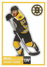 16/17 PANINI NHL STICKER DRAWING #13 BRAD MARCHAND BRUINS *24700