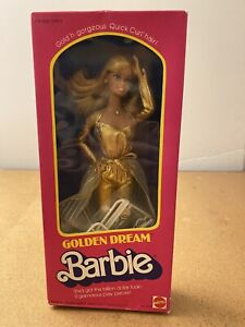 VINTAGE MATTEL GOLDEN DREAM BARBIE NRFB 1980s