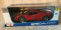 Ferrari 458 Speciale 1:18 Model Car Maisto Special Edition, NIB RED