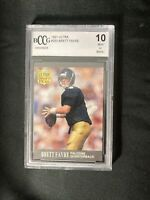 1991 FLEER ULTRA BRETT FAVRE ROOKIE FOOTBALL CARD #283 BECKETT BCCG GEM MINT 10!