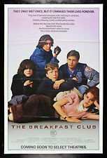 THE BREAKFAST CLUB * CineMasterpieces ORIGINAL MOVIE POSTER RARE ADVANCE 1984
