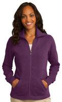 Port Authority Women's Full Zip Front Pocket Fleece Winter Jacket XS-4XL. L293