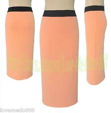 Office Lady Wear to Work Casual Sheath Pencil Straight Long Midi Skirts Dress XL