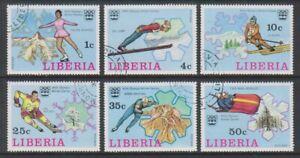 Liberia - 1976, Winter Olympic Games set - CTO - SG 1260/5 (l)