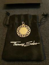 New Thomas Sabo rose gold filigree heart circle disc pendant RRP £98